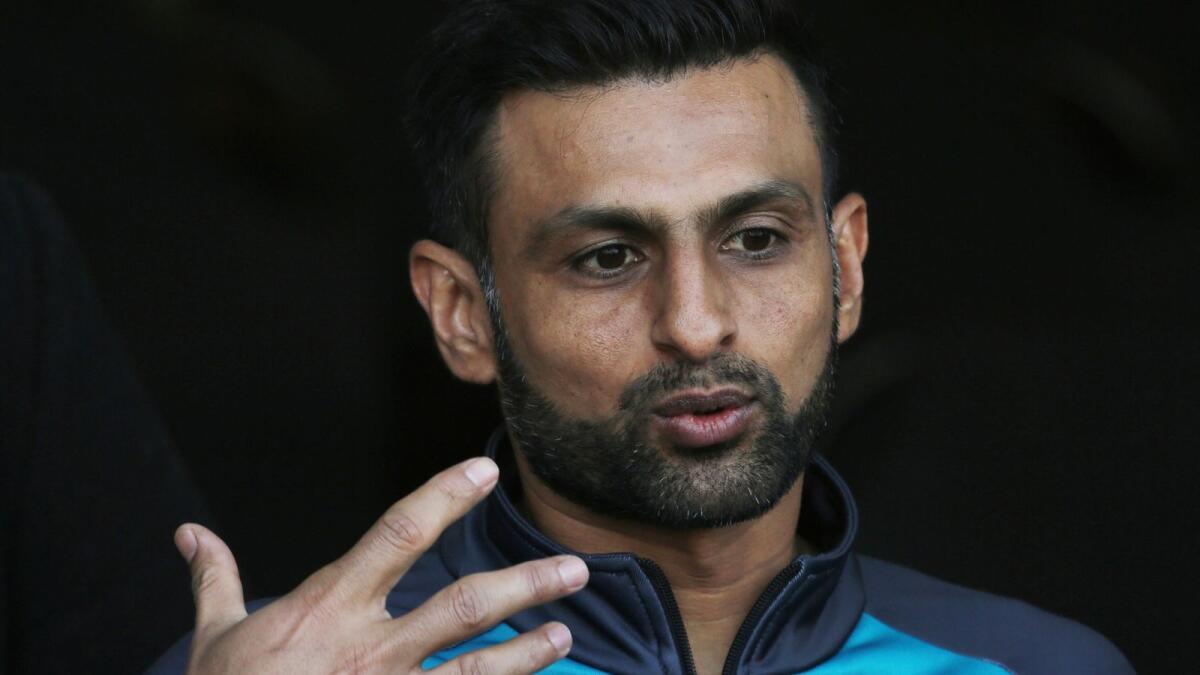 Pakistan all-rounder Shoaib Malik. (AP file)