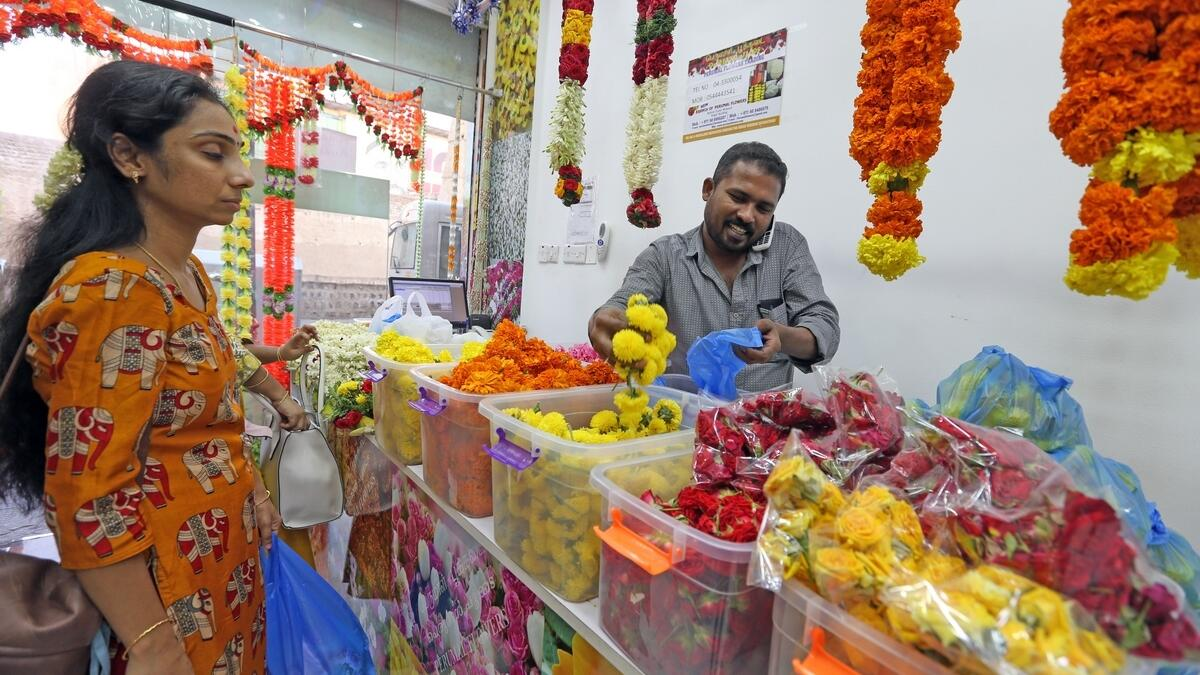 Aside from the massive gold and textile stores, it is the nondescript little hole in the wall shops selling jasmine flowers, incense sticks and trinkets that genuinely add a South Asian flair to Meena Bazaar.  Photo by Dhes Handumon