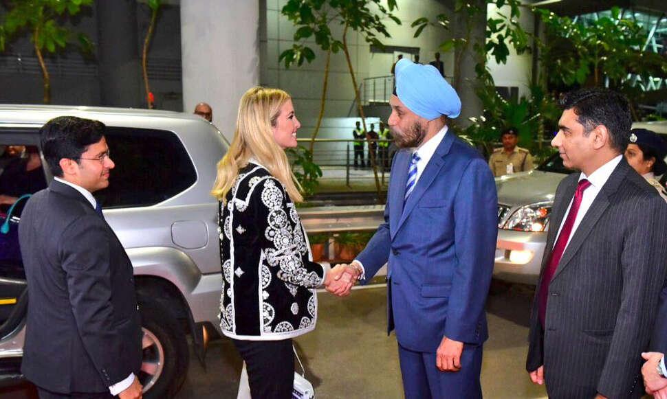 Ivanka Trump arrives in Hyderabad ahead of GES
