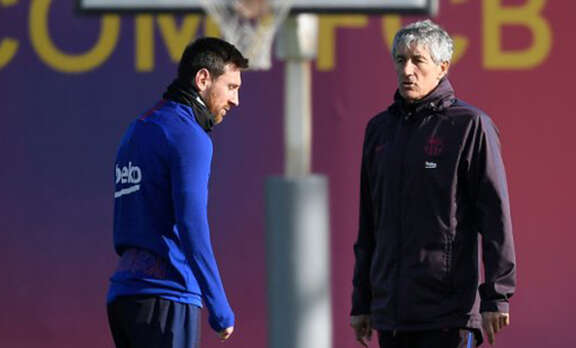 Setien responds to Messi's 'Barca cannot win UEFA Champions League' remark
