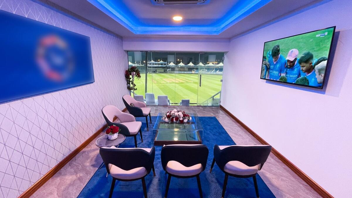 The VIP suites have a private balcony from where fans can enjoy the world-class cricket action. (Supplied photo)
