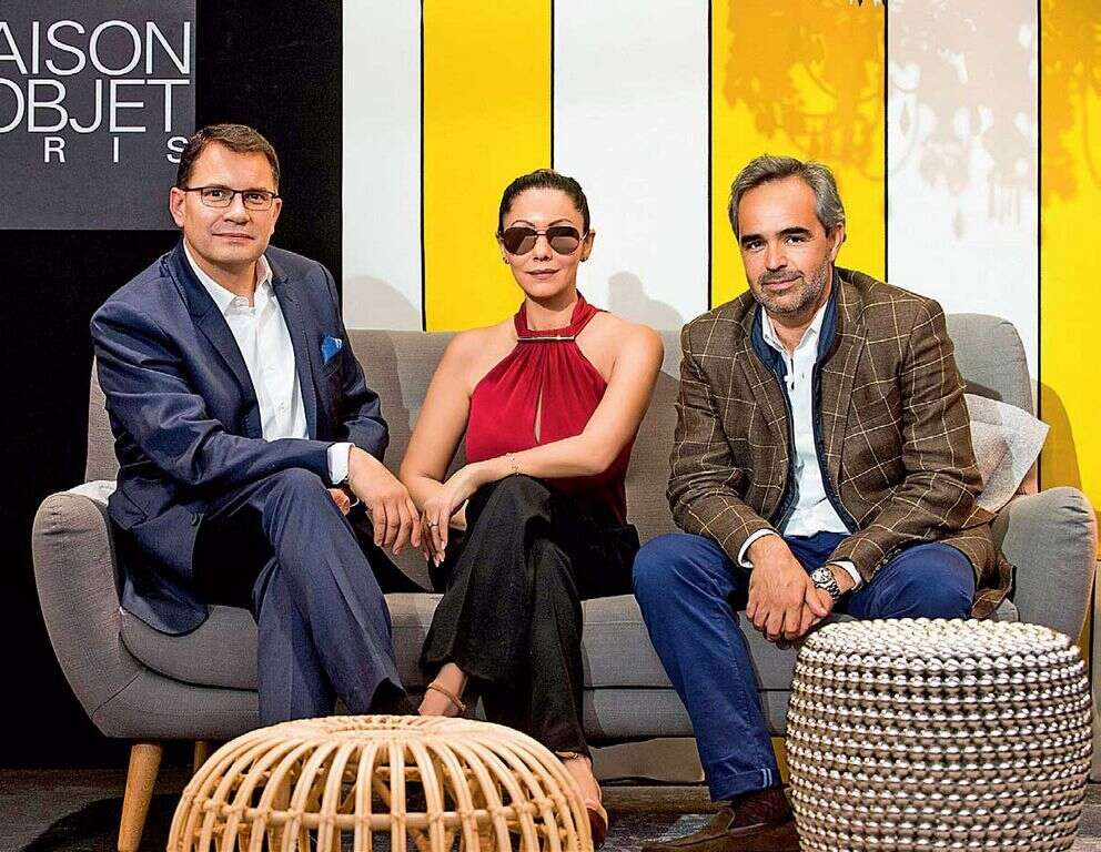 CENTRE OF ATTENTION: Gauri Khan, seen here with Régis Mathieu (right), has been invited to showcase her newline at the prestigious Maison & Objet show in Paris between January 22 and 26, 2016