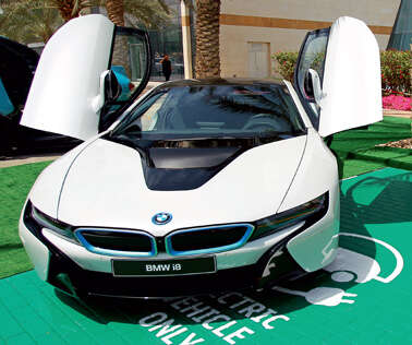 Reserved parking slots for electric cars in Dubai