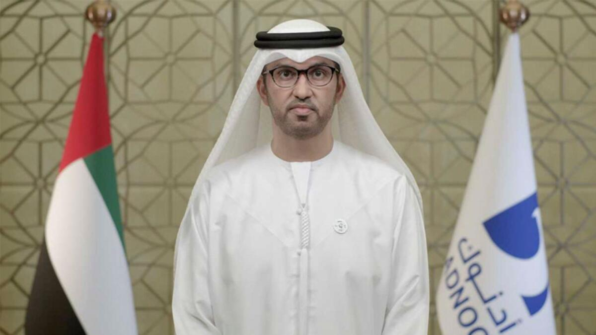Dr Sultan Ahmed Al Jaber, UAE Minister of Industry and Advanced Technology and Managing Director and Group CEO of Adnoc.