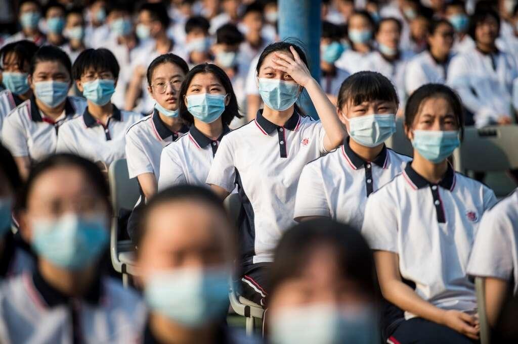 students, face, masks, returned, school, wuhan, china, coronavirus, covid-19