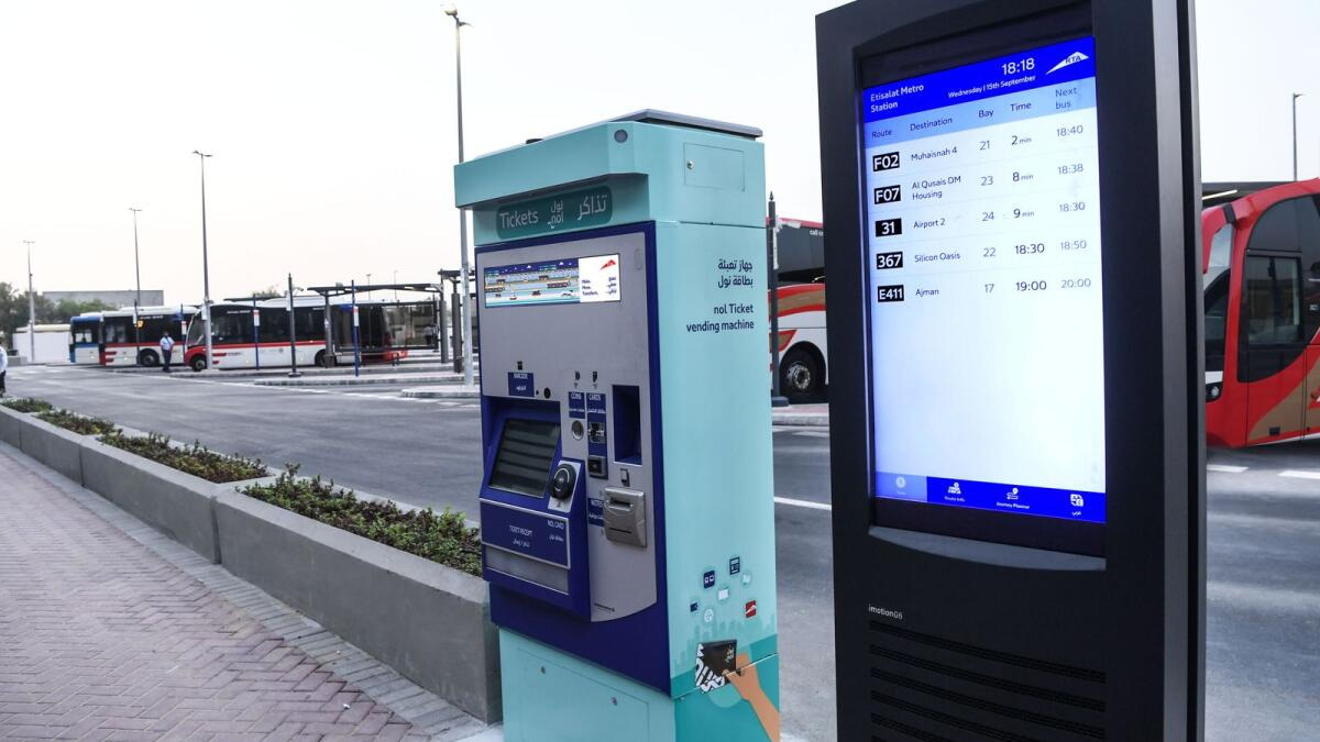 Dubai: New Nol, ticket vending machines installed at bus stations