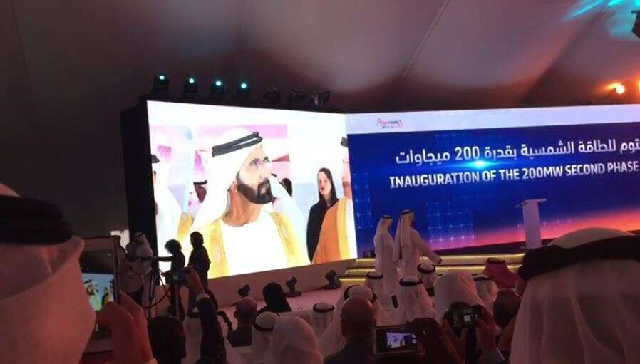 Second phase of Solar Park inaugurated in Dubai
