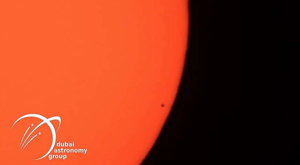 Mercury transit, planet mercury, Sun, Dubai Astronomy Group