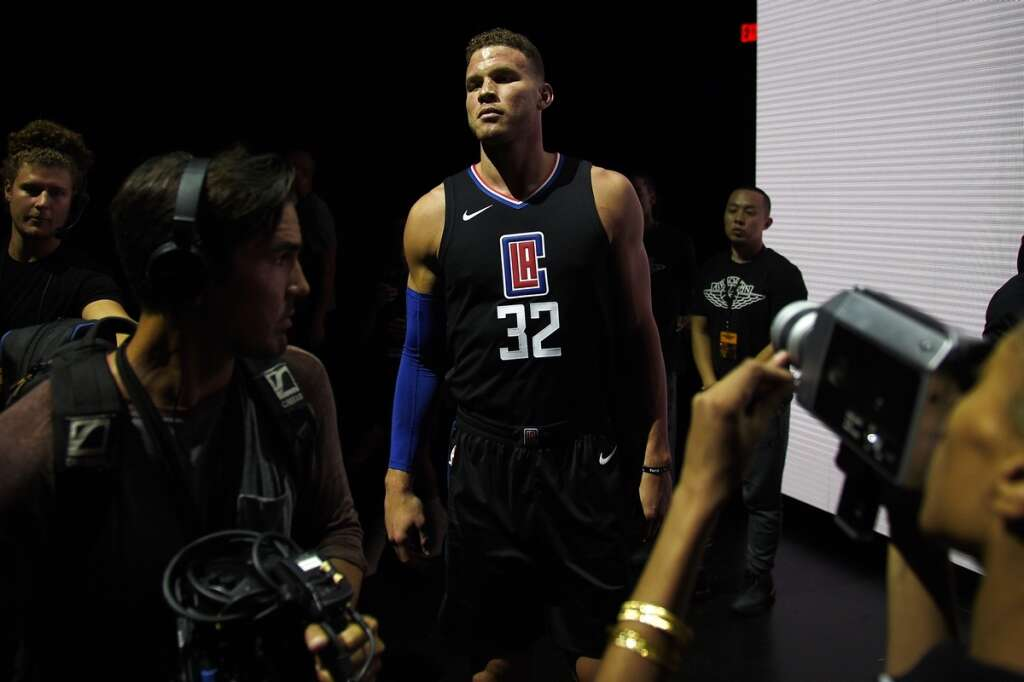 2eb69a3e1 Los Angeles Clippers Blake Griffin wears one of the new league jerseys  representing a new partnership between Nike and the NBA on Friday.