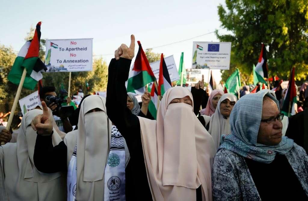 West Bank, Macron, annexation plan