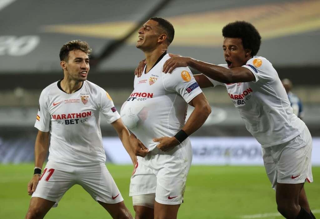 sevilla, win, europa league, final, inter millan, cologne, germany, 3-2