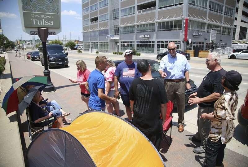 Coronavirus, 6 staffers, setting up, Trump rally, test positive, Covid-19