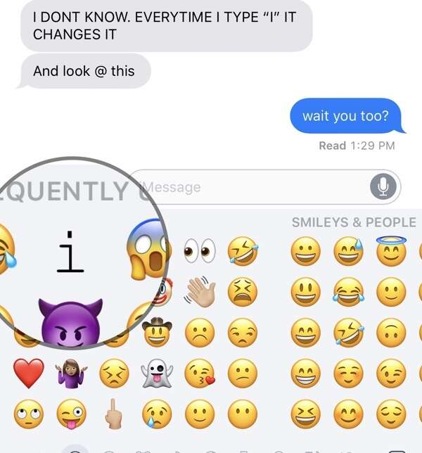 That A[?]Phone, er, iPhone bug is also on the emoji keyboard