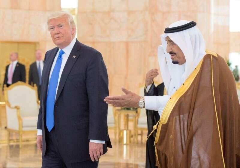 Israel ties, without, Palestinian statehood, Salman,  Trump
