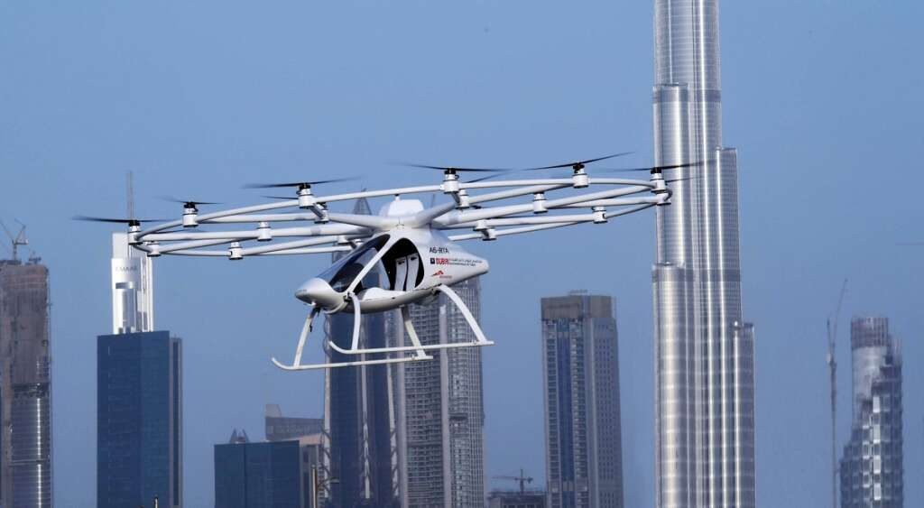 RTA, flying taxi, Dubai Air Navigation Services