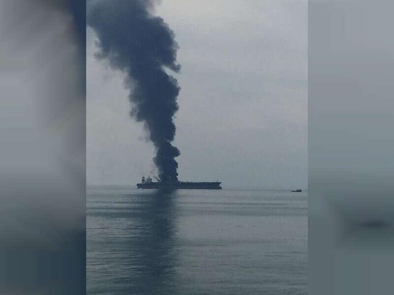 uae coast ship fire