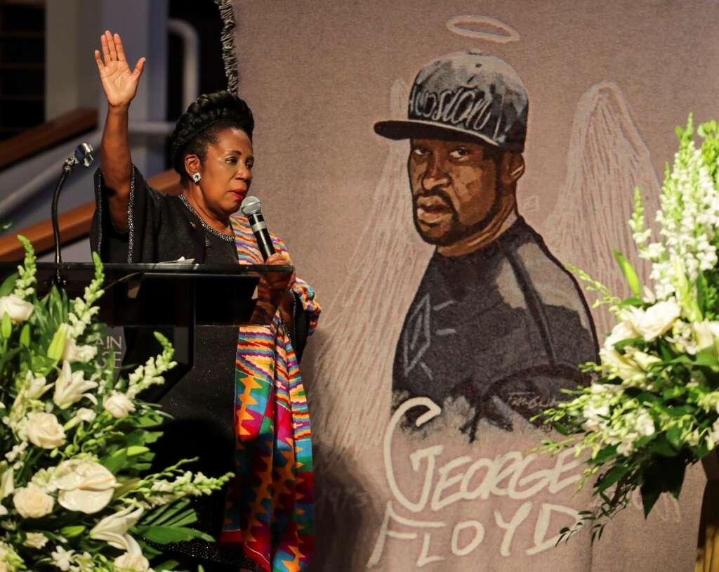Family, friends, farewell, George Floyd, funeral, Houston, The Fountain of Praise Church