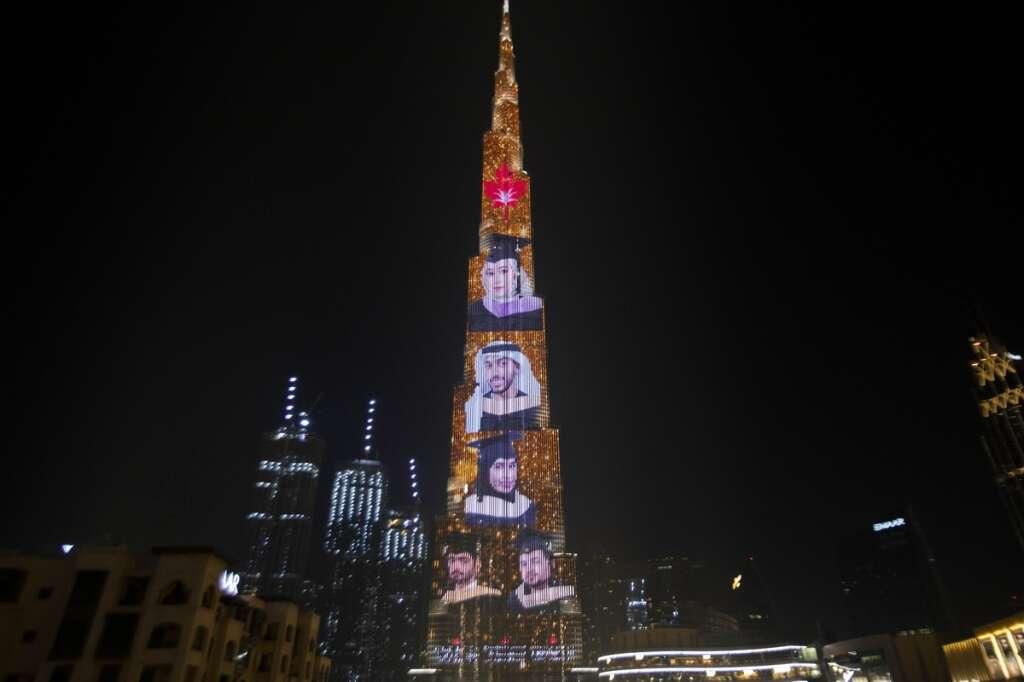 Combating, covid19, coronavirus, UAE-based university, 2020 graduates, shine, Burj Khalifa