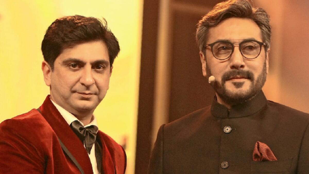 Faisal Khan with actor Adnan Siddiqui at PISA 2020.