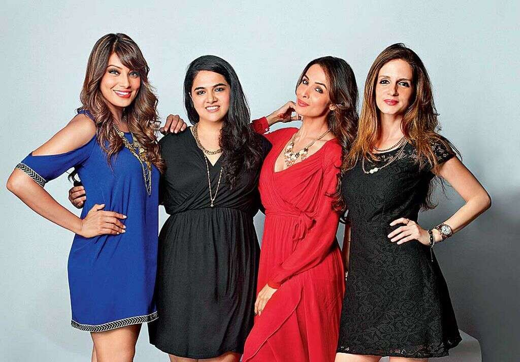 SELLING STYLE:Fashion entrepreneur Preeta Sukhtankar (second from left)—seen here with her three celebrity style consultants