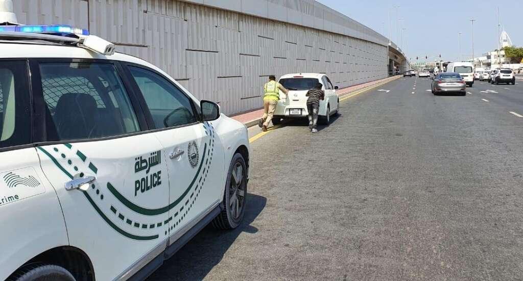 dubai police, dubai, uae, drivers, motorists, highway, maintenance, breakdown