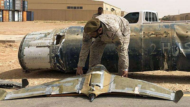Saudi Arabia, coalition, fighting, Houthi, Yemen, downed, armed drone, missiles