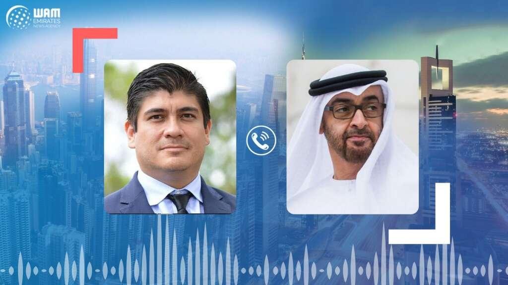 Sheikh Mohamed bin Zayed Al Nahyan, UAE, Abu Dhabi, Costa Rican President, Carlos Alvarado Quesada, telephone call, coronavirus, Covid-19