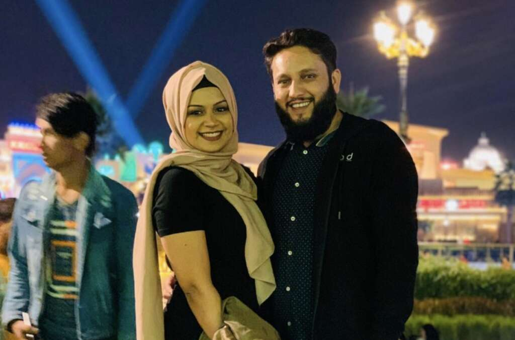 Photos, Dubai-based, couple, tie knot, video call, travel restrictions