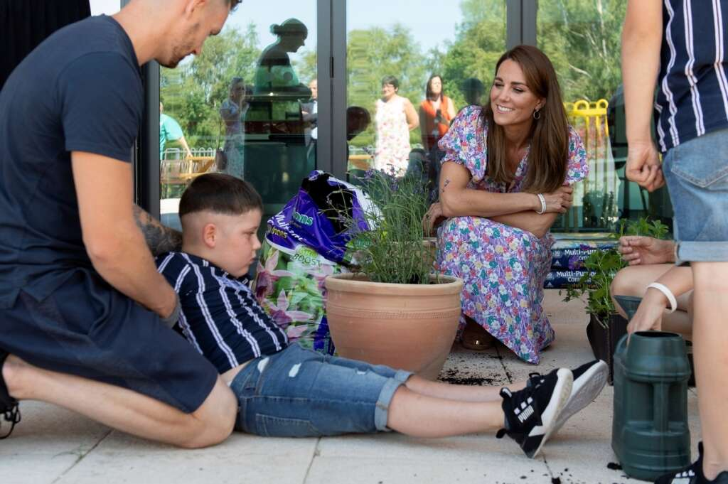 Kate Middleton, Duchess of Cambridge, Britain, garden, hospice, Together for Short Lives, The Nook, Norwich
