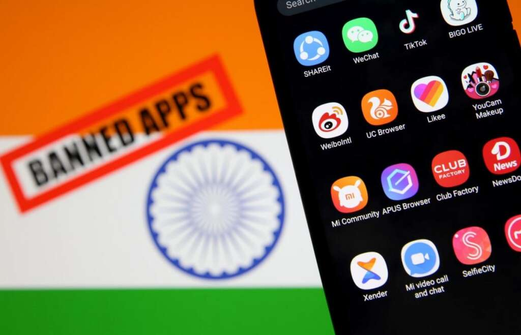 China app, Xiaomi, Baidu, TikTok, Alibaba