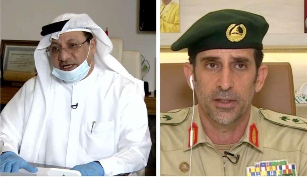 coronavirus, covid-19, dubai police, Abdullah Khalifa Al Marri, Humaid Al Qutami, dubai health authority, DHA