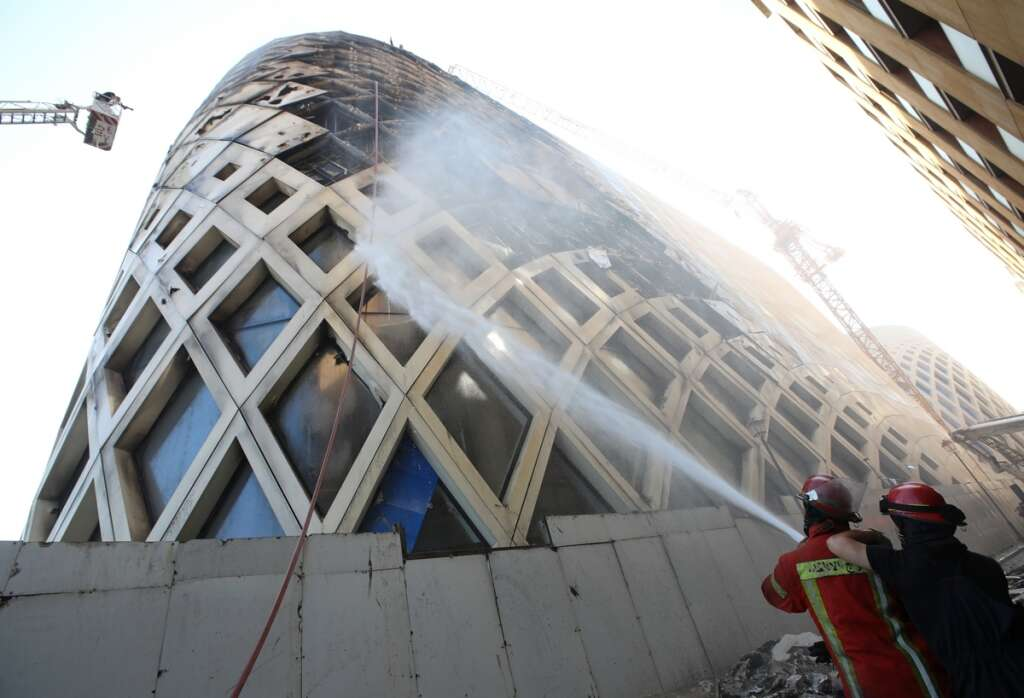 fire, Beirut, Zaha Hadid, building, shatters, residents