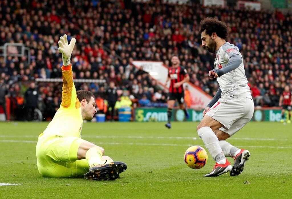 Salah's trick sends Liverpool top of Premier League