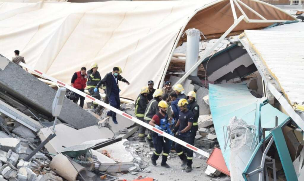 Riyadh, Saudi Arabia, Saudi university building collapses