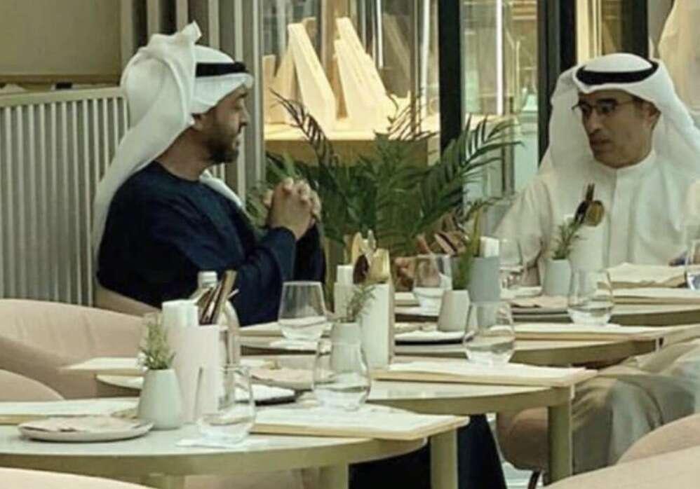 sheikh mohamed bin zayed, sheikh mohamed, dubai mall, cafe, coffee, emaar, chairman, dubai mall cafe, cafe