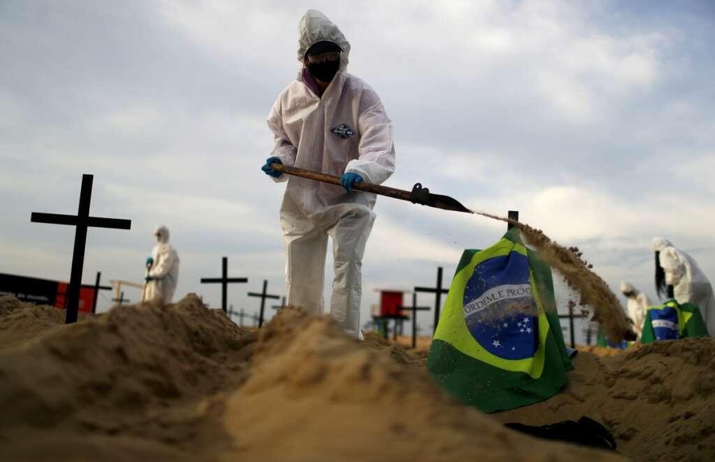Brazil, surpasses, 70,000, coronavirus, Covid-19, deaths, health ministry