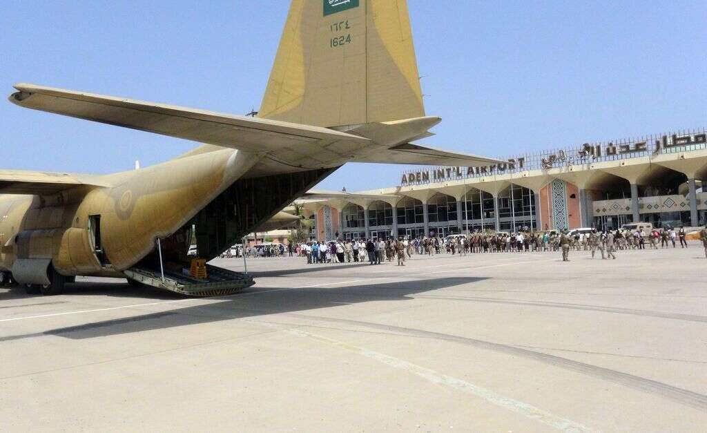 Aden airport opens for civilian traffic