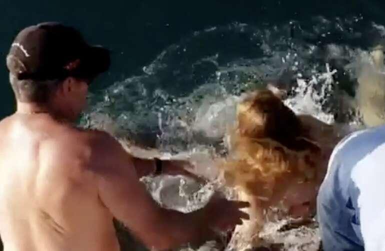 Video: Shark pulls woman underwater, shreds flesh in horrific viral clip