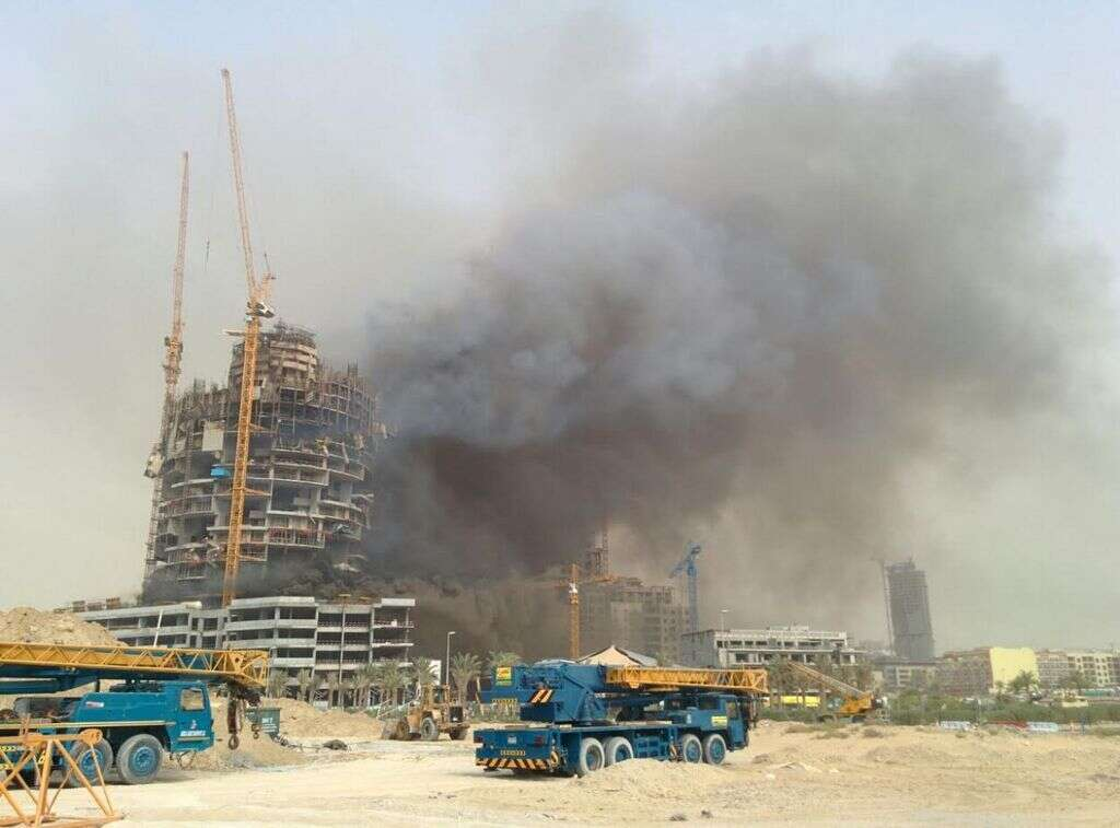 Workers rescued as fire breaks out in JVC tower