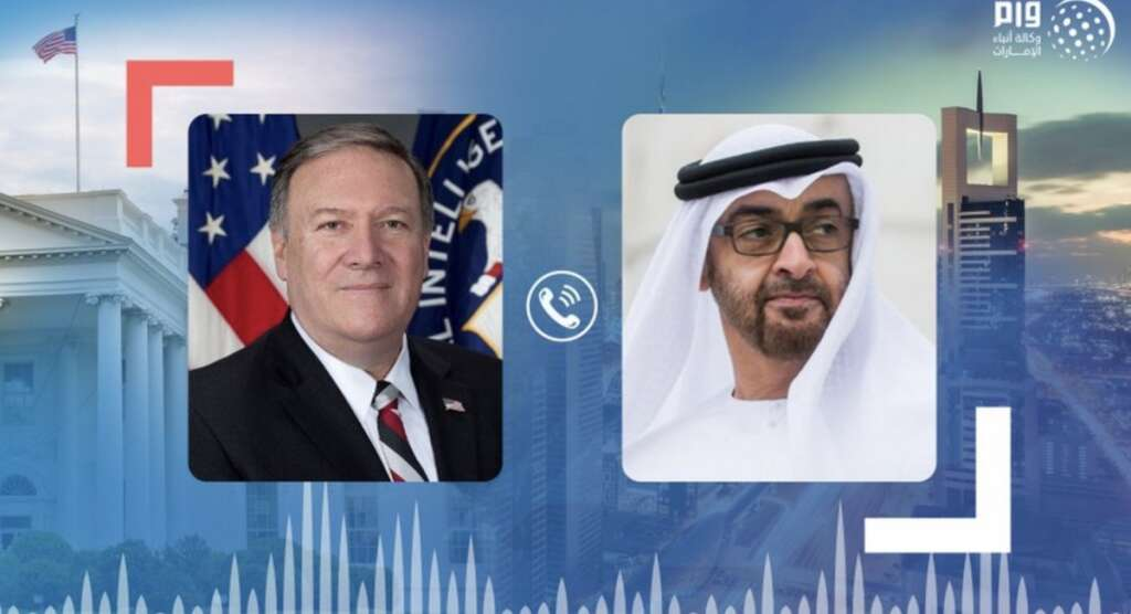 Pompeo calls Sheikh Mohamed, regional and bilateral issues, coronavirus pandemic.