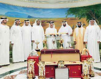 Khalifa receives camel race golden swords