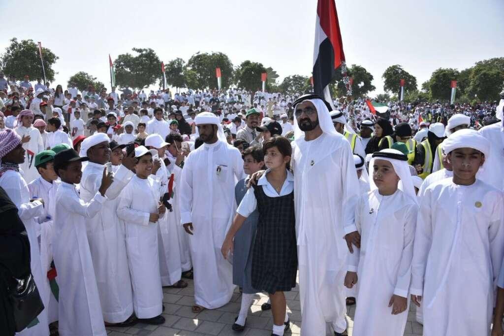 WATCH: Mohammed hoists UAE flag at Dubais Zabeel Park