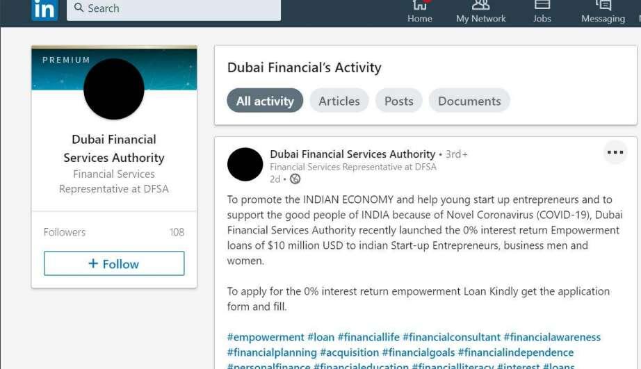 coronavirus, covid-19, DFSA, loan, Dubai Financial Services Authority, fraud, scam