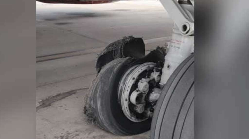 SpiceJet flight from UAE lands in India after tyre burst