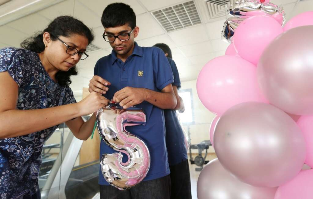 Autistic youth, balloon decorations, not enough, sustain family, Dubai