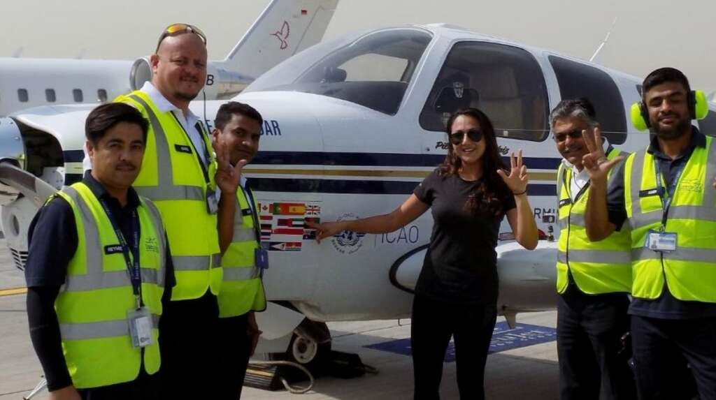 Afghan woman flying the world solo is now in Dubai
