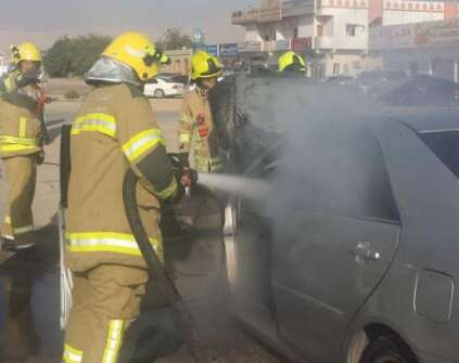 Car bursts into flames in RAK, no casualties reported
