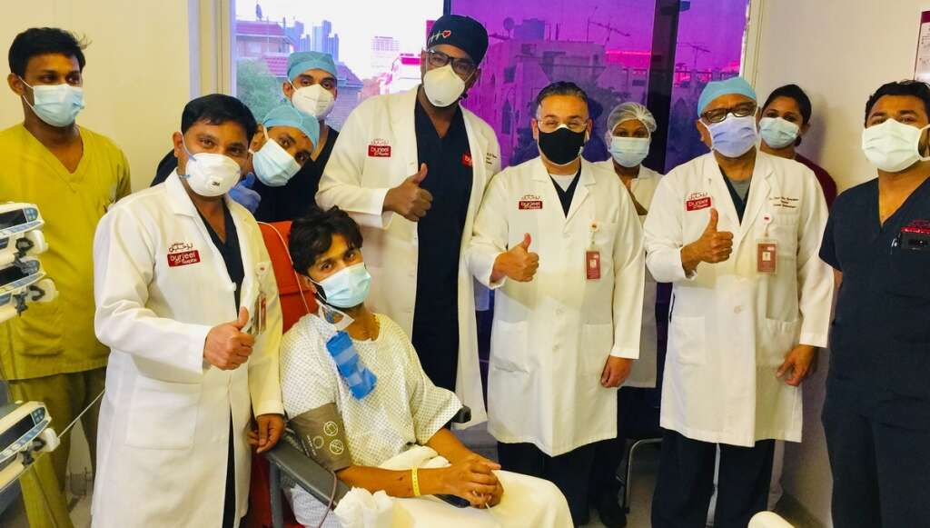 22-hour surgery, saves, teacher's life, UAE