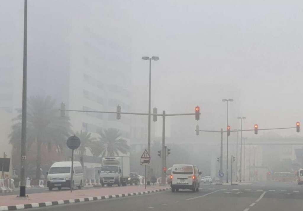 UAE weather, fog, low visibility