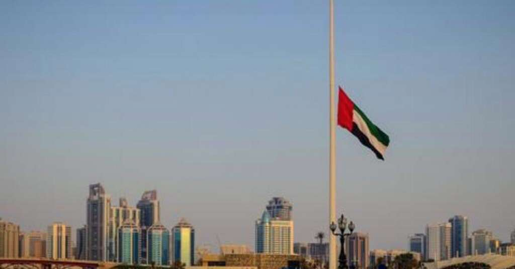 7x14inch Car Flag Poles 0.06m/² landscape flag 17x34cm DIPLOMAT-FLAGS Abu Dhabi Flag 0.65sqft